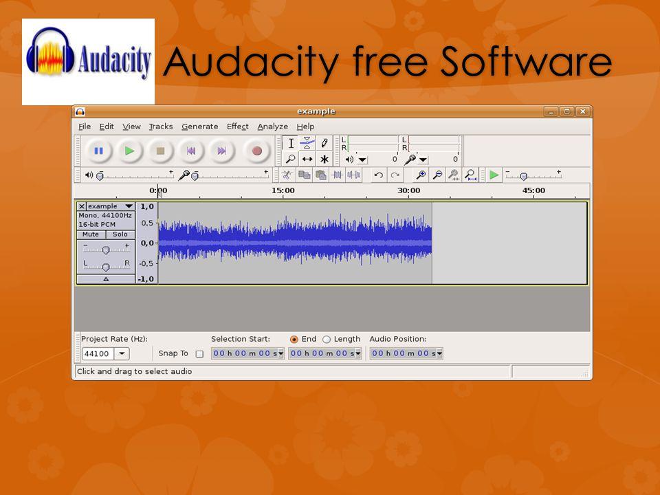 Audacity free Software