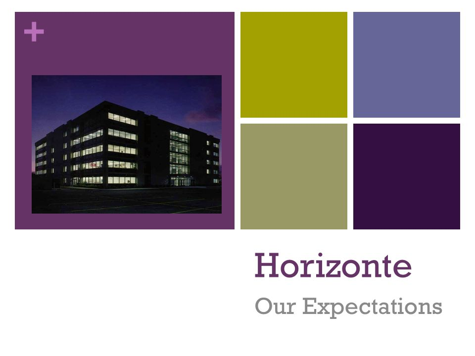 + Horizonte Our Expectations