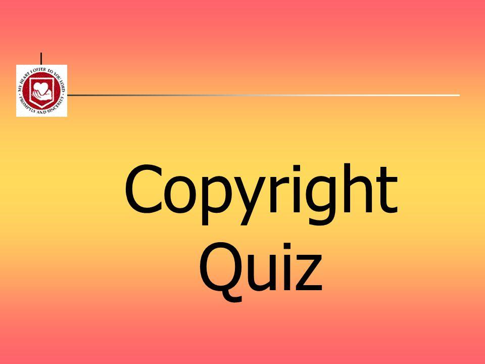 Copyright Quiz