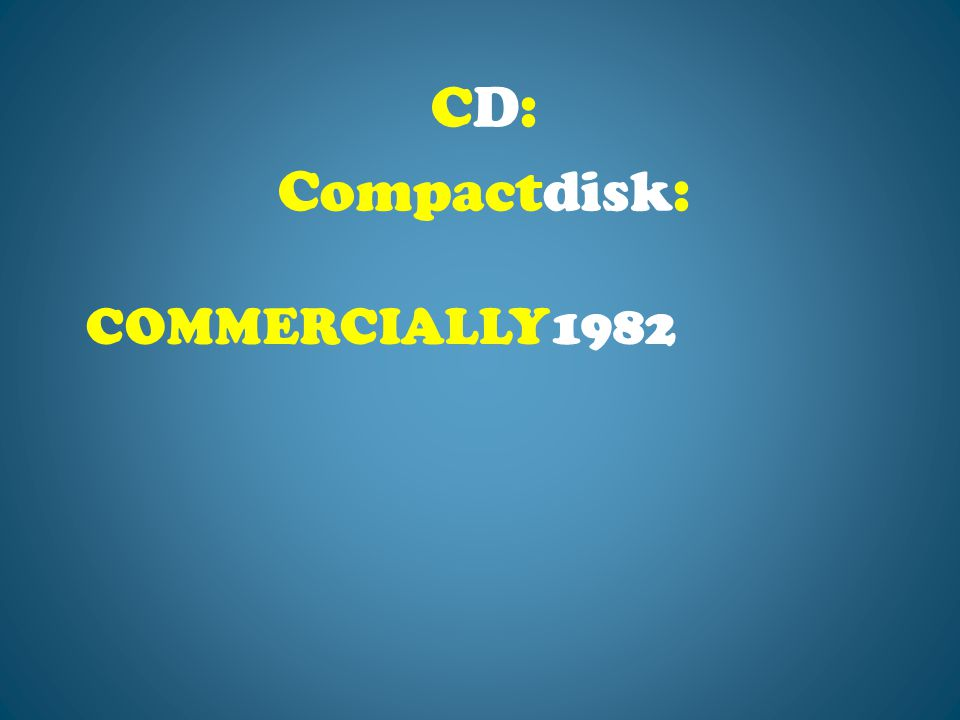 COMMERCIALLY1982 CD: Compactdisk: