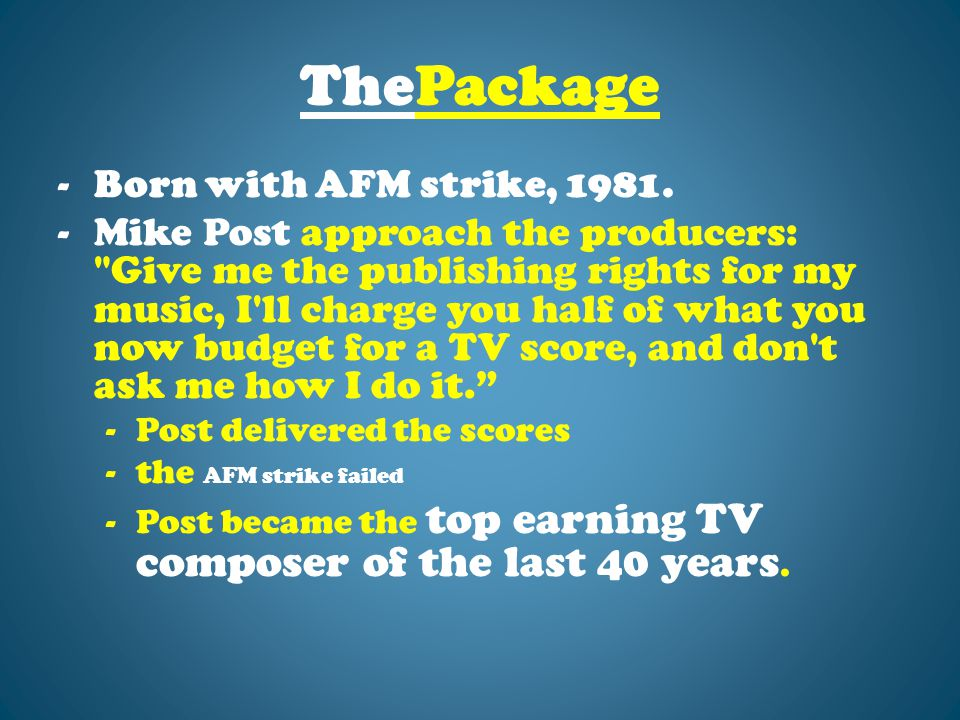 ThePackage -Born with AFM strike, 1981.
