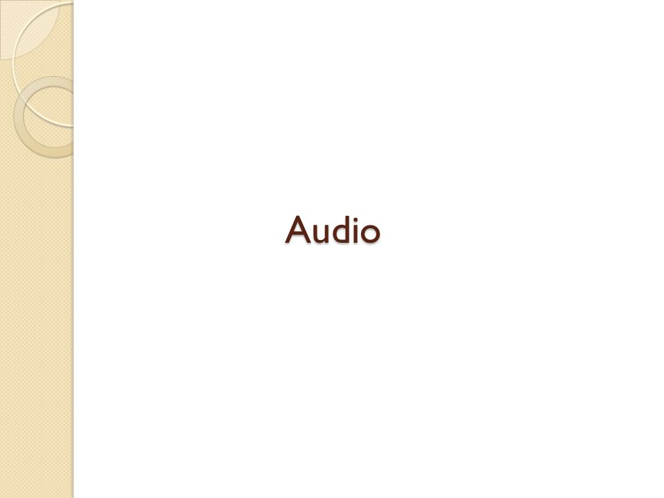 WAV This format is commonly used to store Uncompressed, CD-quality files.