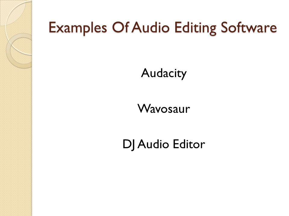 Audacity This is an open source audio editor that is multiplatform.
