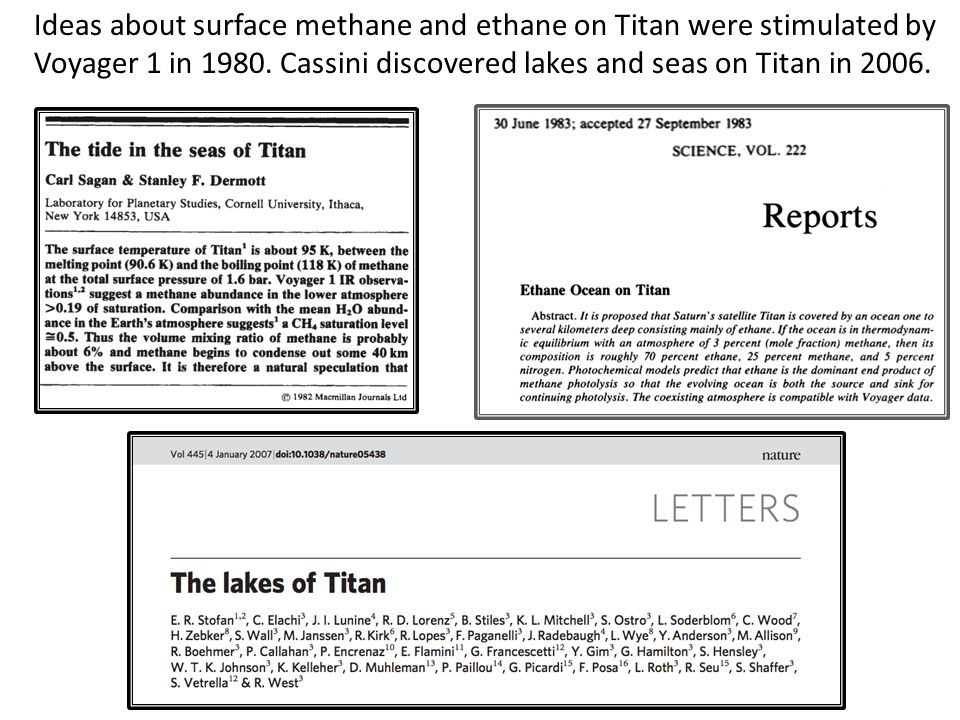 Metallic Core Salt-Rich Ocean HP-Ice Layer Ice/Hydrates hot water moves through hydrated silicates to ocean Actively dehydrating rock core raises heat flux by 25-100% The ethane sinks in the crust...into the ocean.