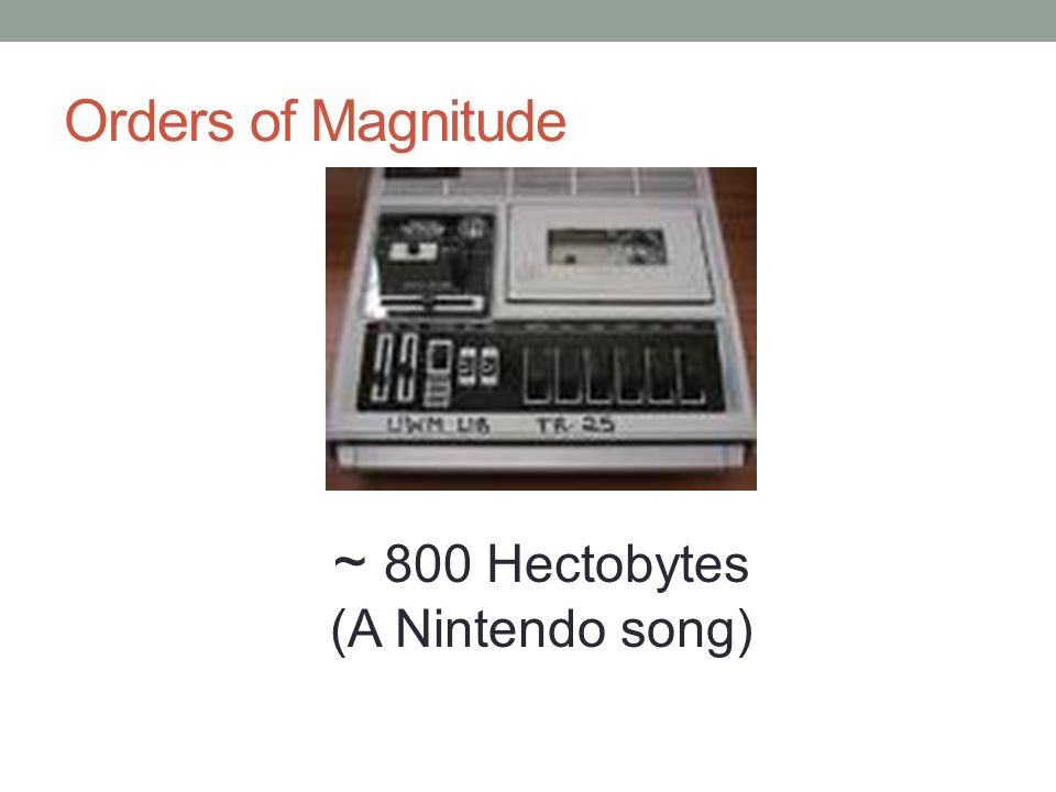 Orders of Magnitude ~ 800 Hectobytes (A Nintendo song)