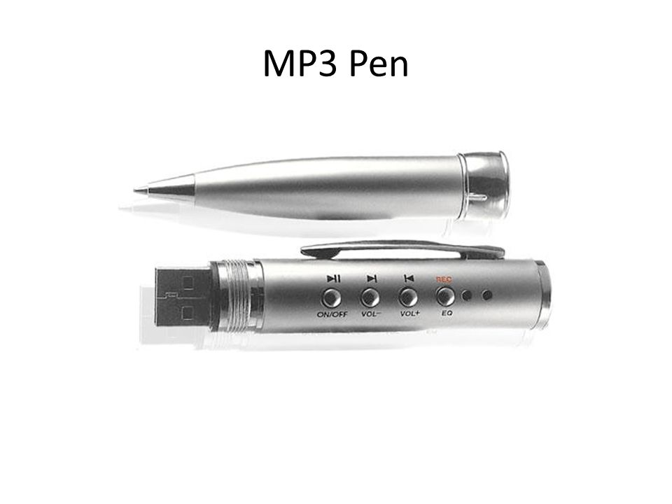 MP3 Pen An MP3 pen allows you to load audio clues ahead of time. Of course, cheaters can't disrupt an exam with loud audio, which is why they have dis