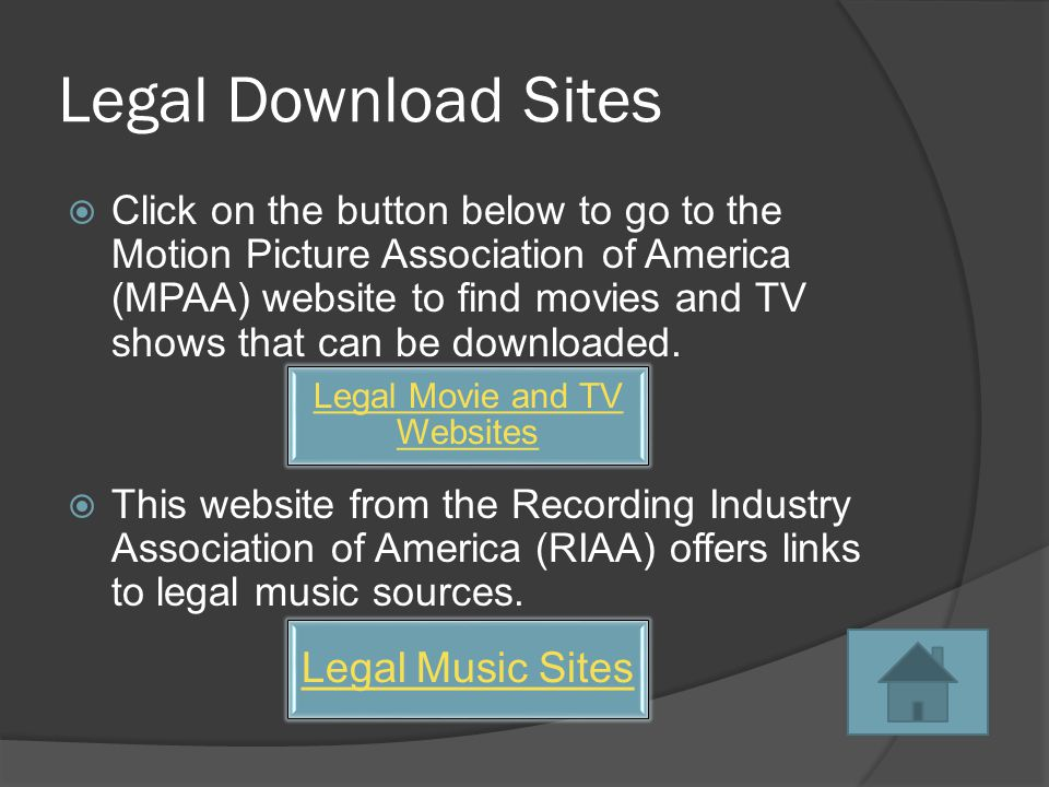 Legal & Illegal File Sharing  It is legal to share files that are not copyrighted.