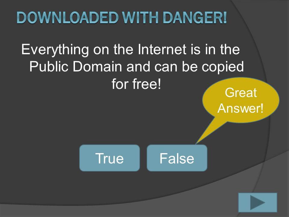 Everything on the Internet is in the Public Domain and can be copied for free.