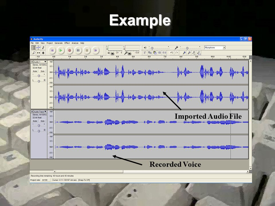 Example Recorded Voice Imported Audio File