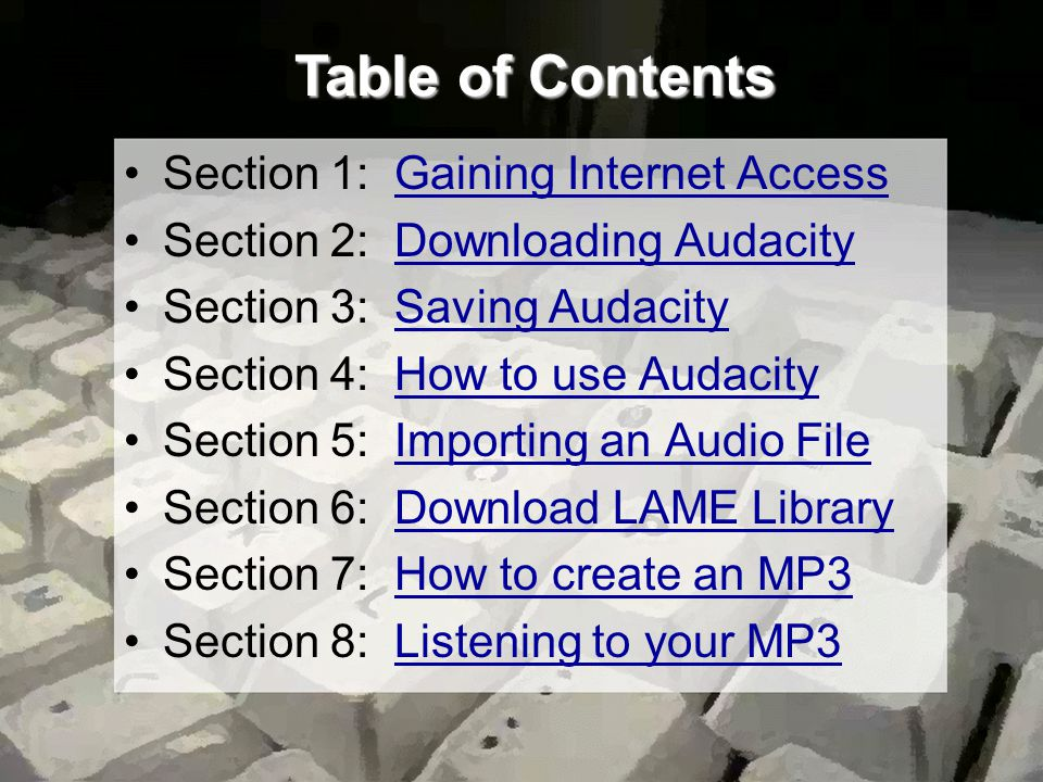 How to Use Audacity These are other options available in Audacity.