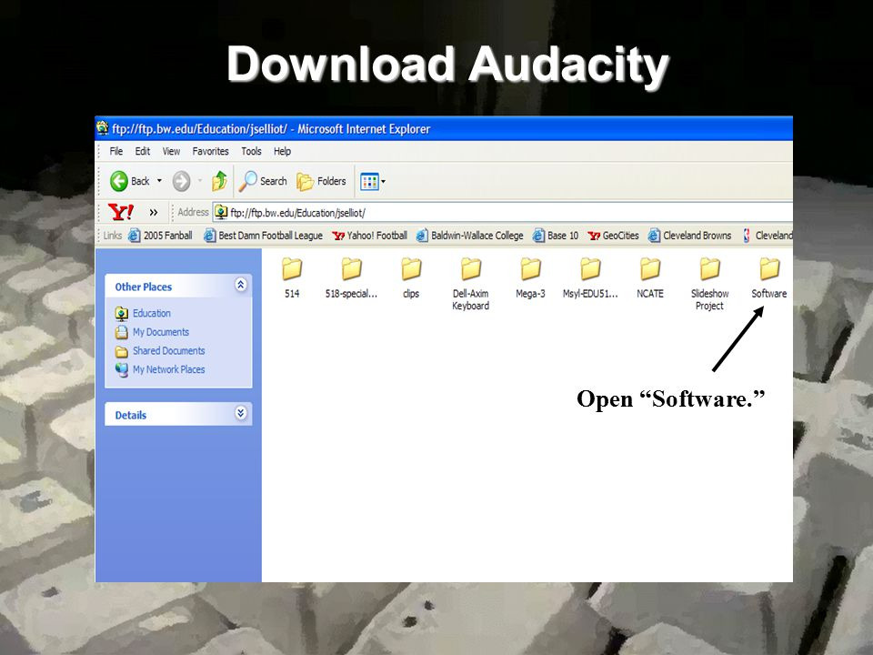 Download Audacity Open jselliot. Open Software.