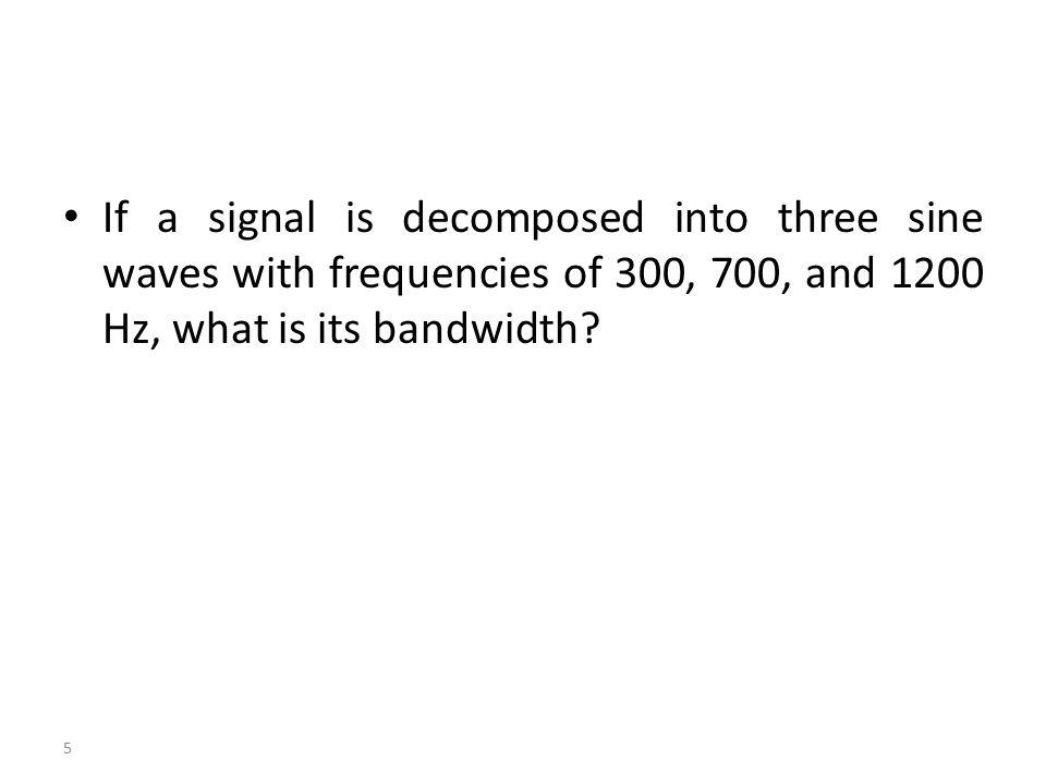 16 Digital Signals The bandwidth of a digital signal is infinite.