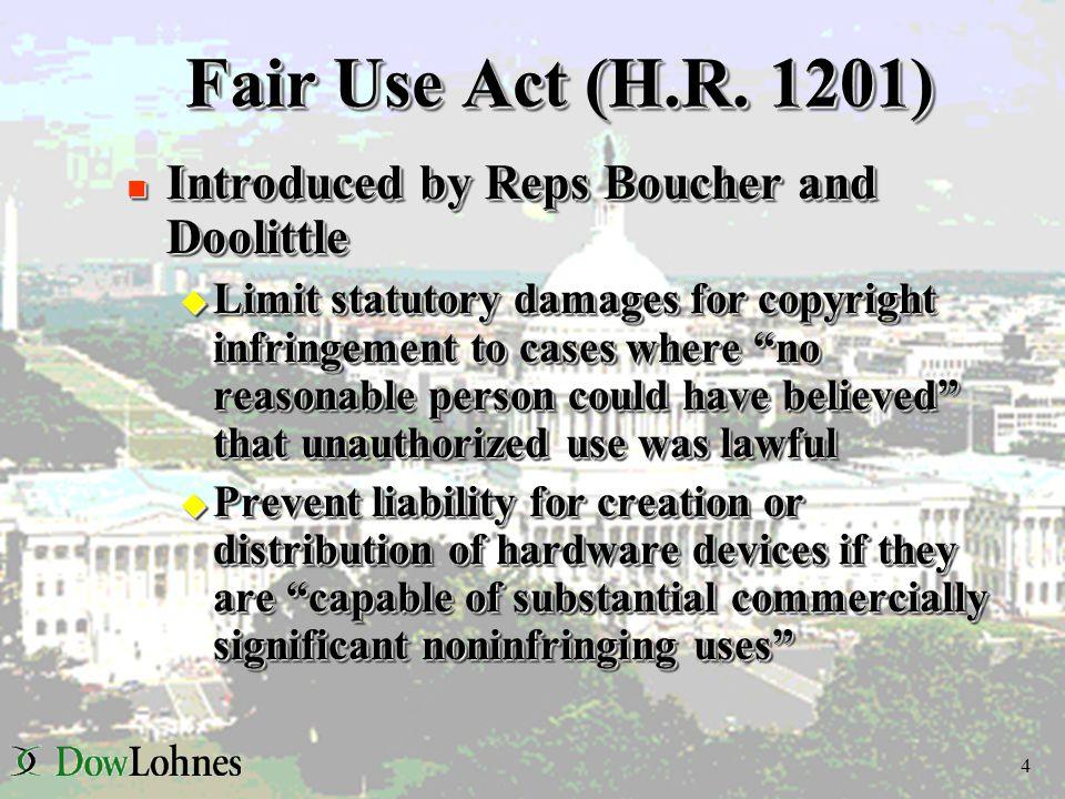 4 Fair Use Act (H.R.