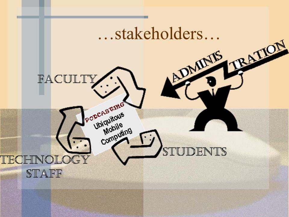 …stakeholders…