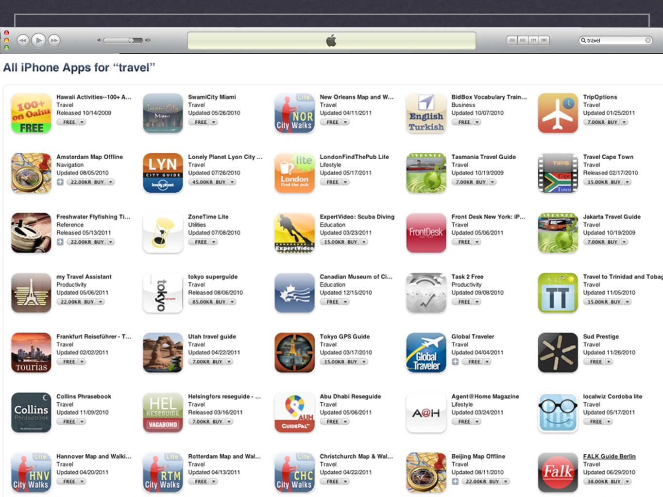 Who? There are 8050 travel related aps on Apple's App store....Most do not utilize audio to convey information.