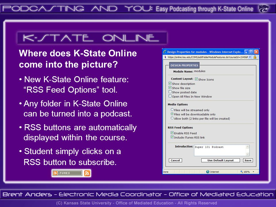 Where does K-State Online come into the picture.