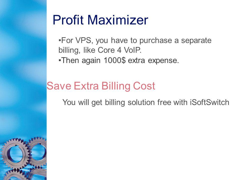 Profit Maximizer Then again 1000$ extra expense.