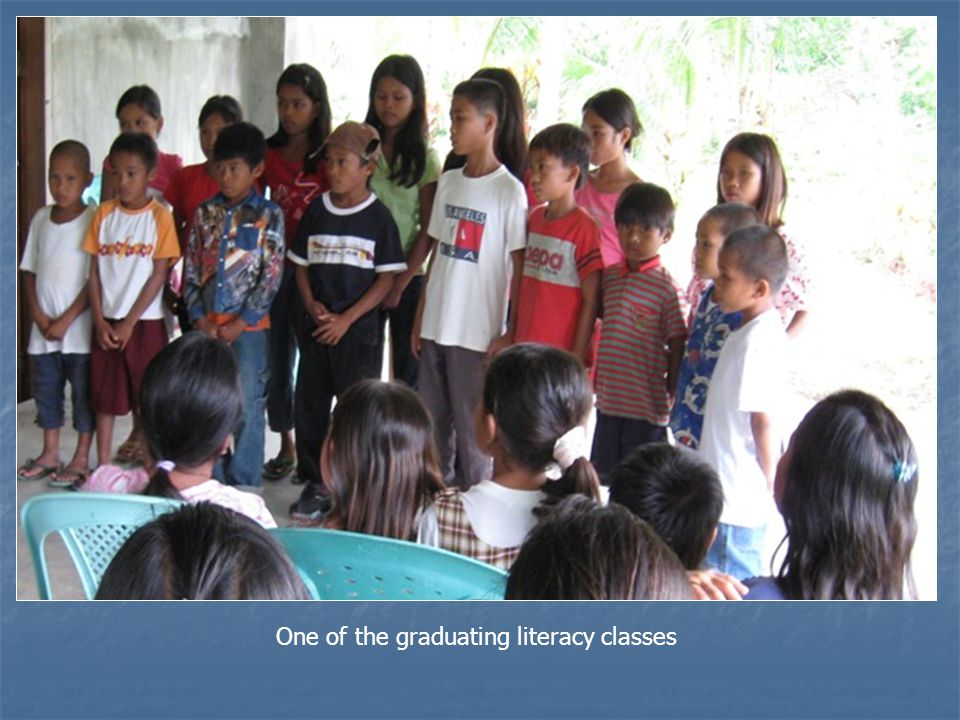 One of the graduating literacy classes