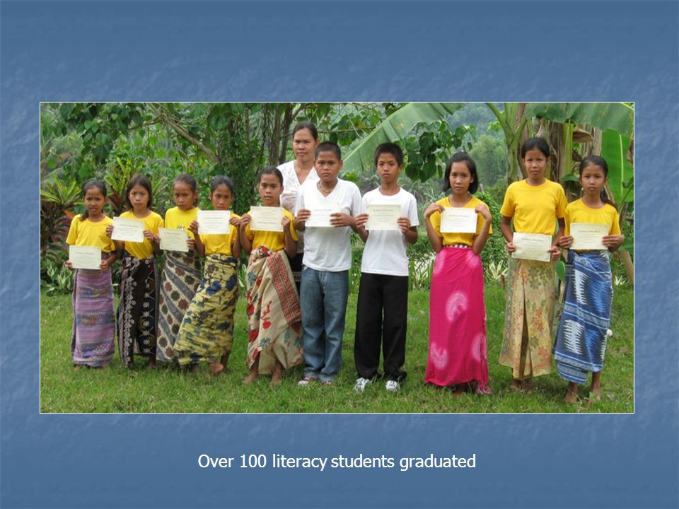 Over 100 literacy students graduated