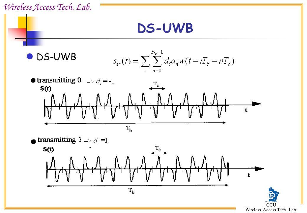 Wireless Access Tech. Lab. CCU Wireless Access Tech. Lab. DS-UWB