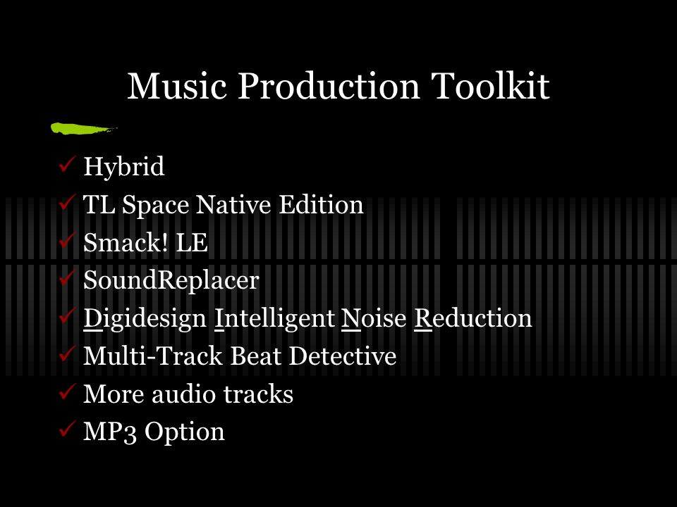 Music Production Toolkit Hybrid TL Space Native Edition Smack.