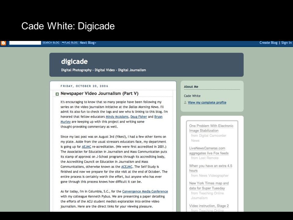 Cade White: Digicade