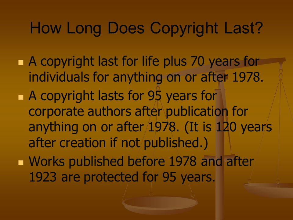 Copyright is Automatic There is no need to include a copyright notice.