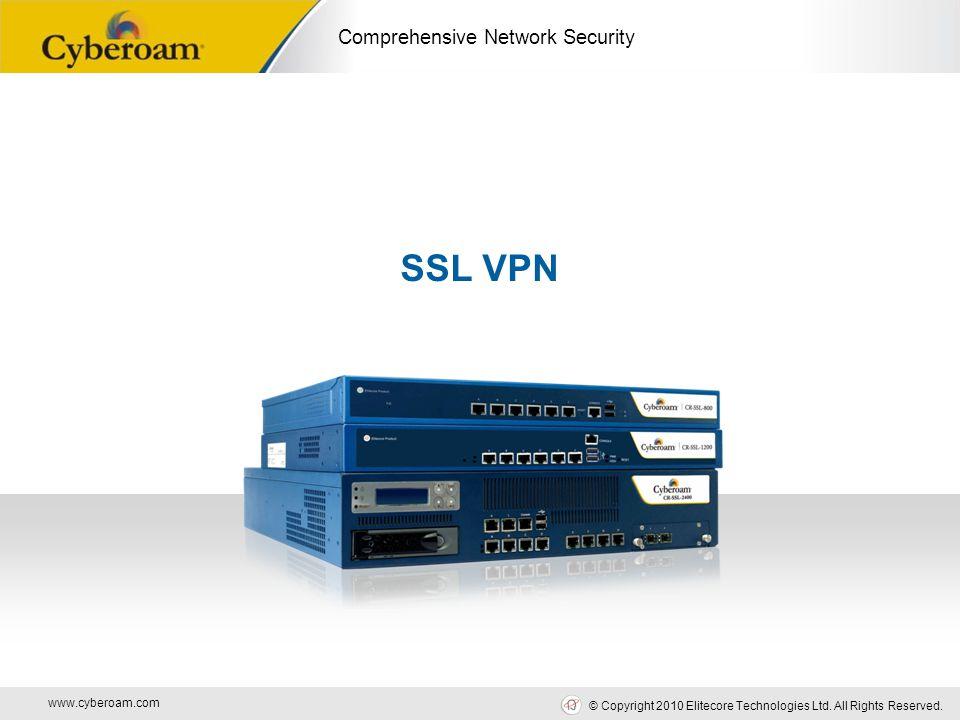 www.cyberoam.com © Copyright 2010 Elitecore Technologies Ltd. All Rights Reserved. Comprehensive Network Security SSL VPN