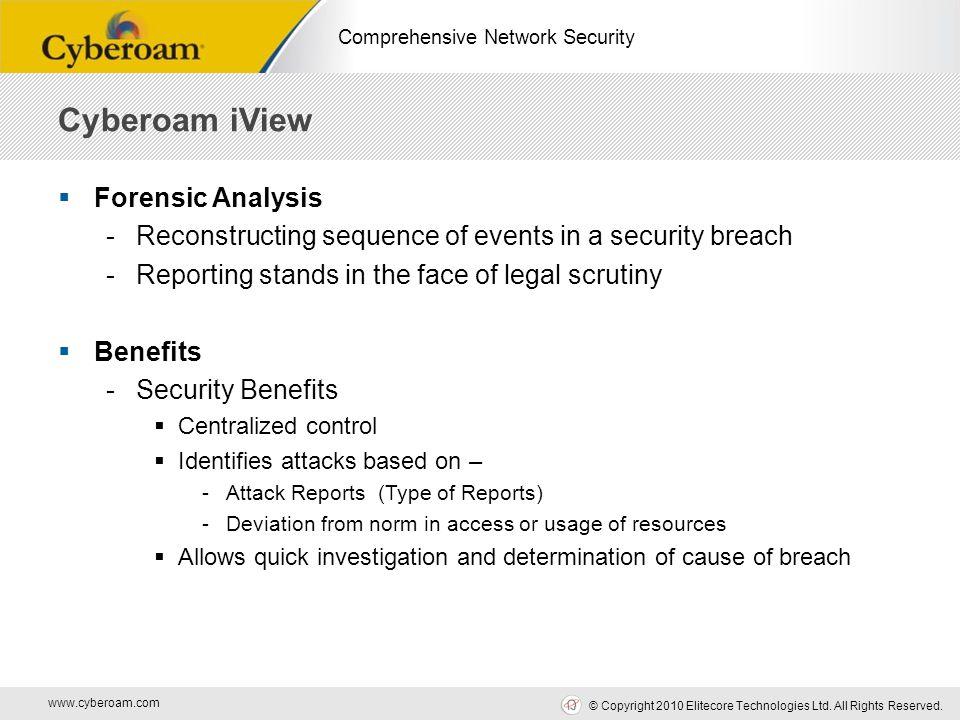 www.cyberoam.com © Copyright 2010 Elitecore Technologies Ltd.