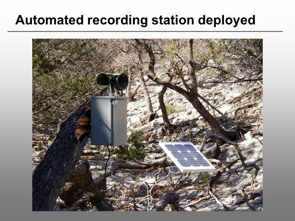 Automated recording station deployed