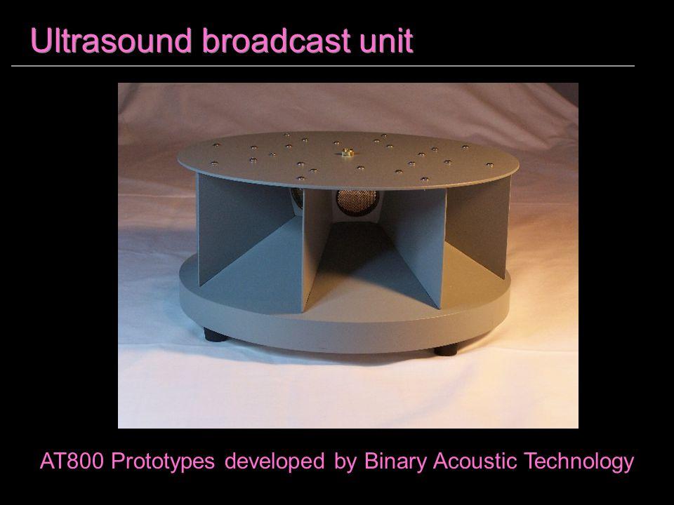 Ultrasound broadcast unit AT800 Prototypes developed by Binary Acoustic Technology