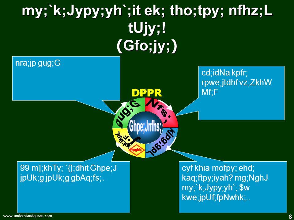 8 www.understandquran.com my;`k;Jypy;yh`;it ek; tho;tpy; nfhz;L tUjy;! ( Gfo;jy; ) cyf khia mofpy; ehd; kaq;ftpy;iyah? mg;NghJ my;`k;Jypy;yh`; $w kwe;