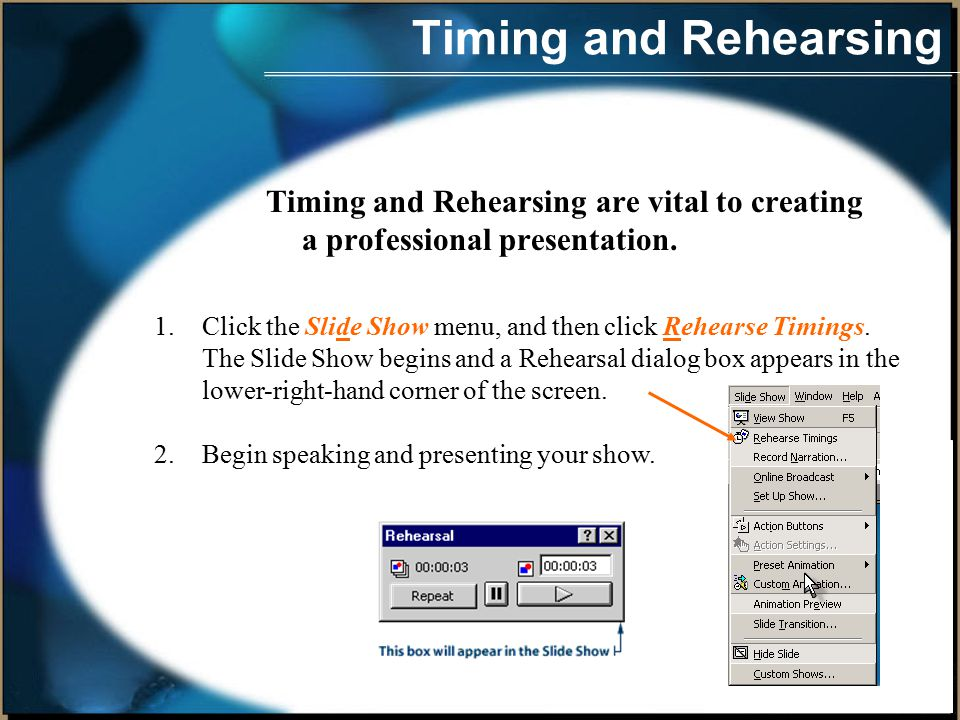 Presentations can be as elaborate or simple as you want.