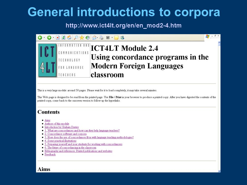http://www.ict4lt.org/en/en_mod2-4.htm General introductions to corpora