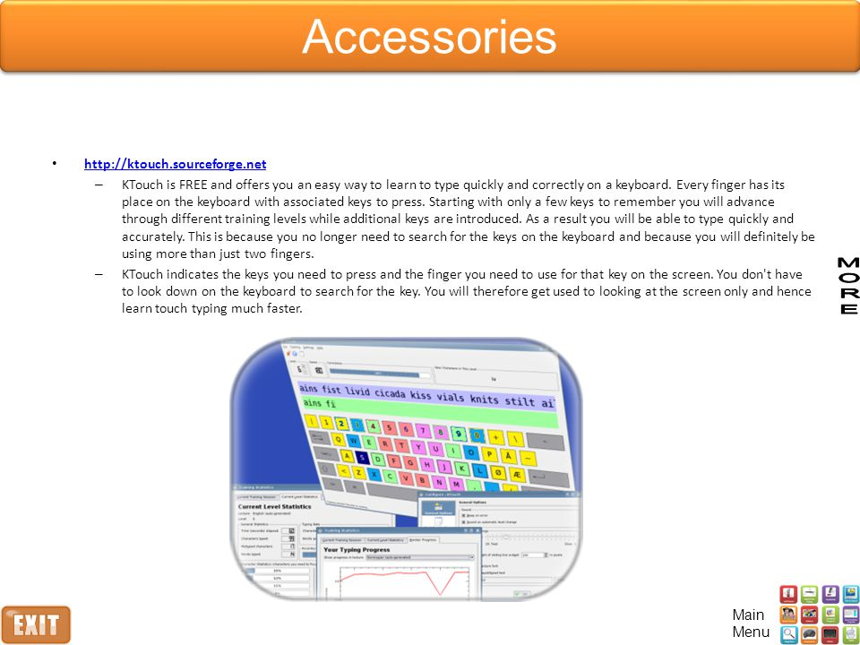 http://ktouch.sourceforge.net – KTouch is FREE and offers you an easy way to learn to type quickly and correctly on a keyboard.