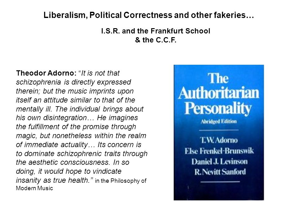 Liberalism, Political Correctness and other fakeries… I.S.R.
