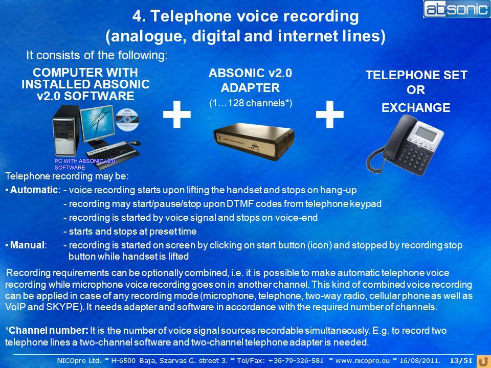 4.Cellular phone voice recording 1.