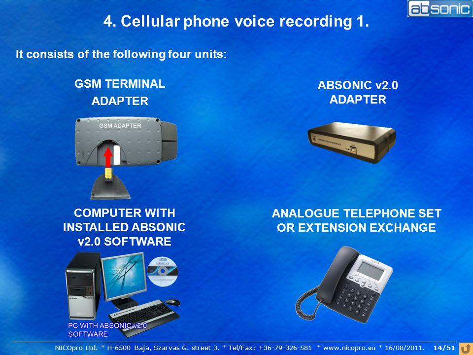 4. Cellular phone voice recording 1.