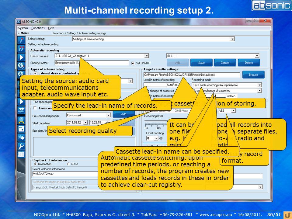 Multi-channel recording setup 2.