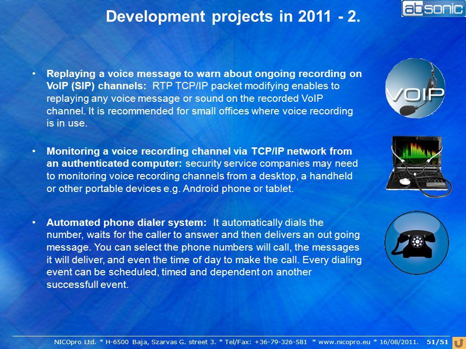 51/51 Development projects in 2011 - 2. NICOpro Ltd.
