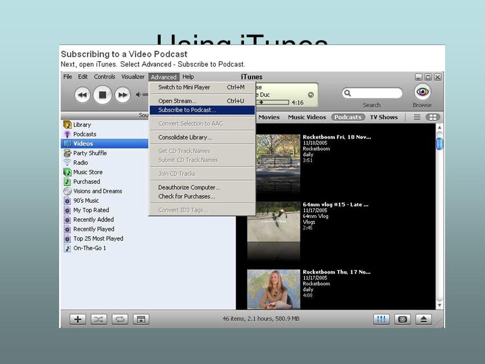 Using iTunes