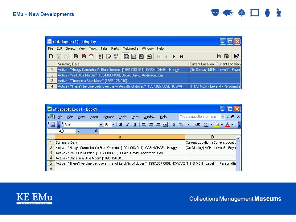 Collections Management Museums EMu – New Developments