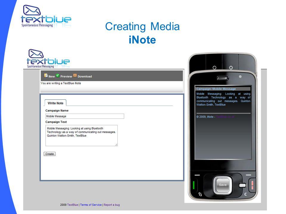 Creating Media iNote
