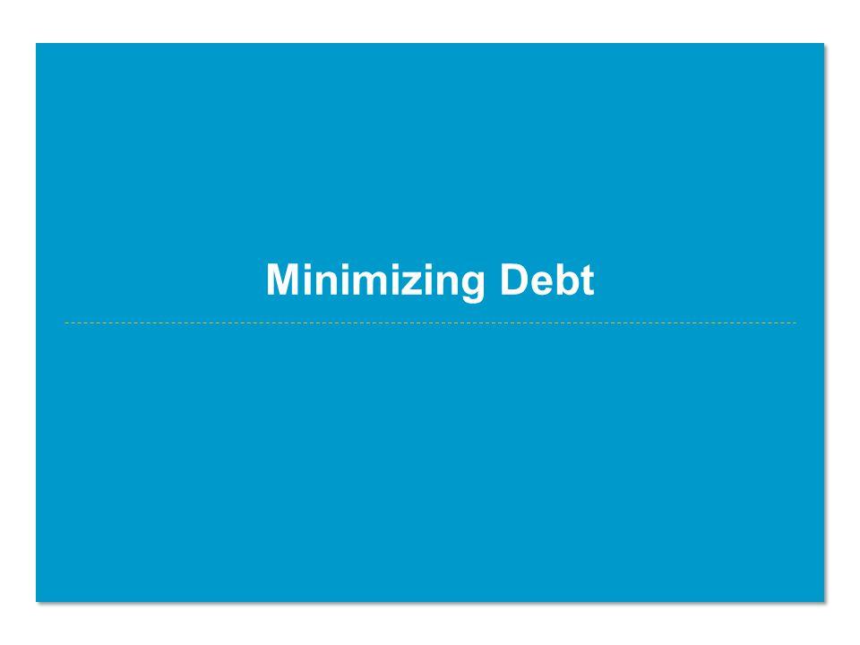 Minimizing Debt