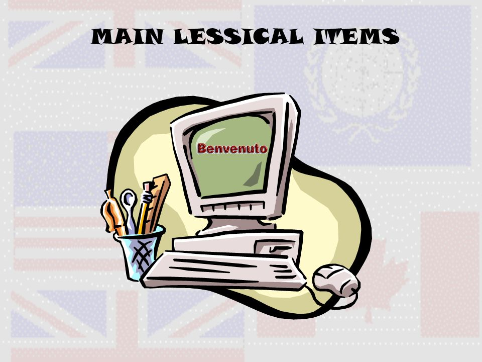 MAIN LESSICAL ITEMS