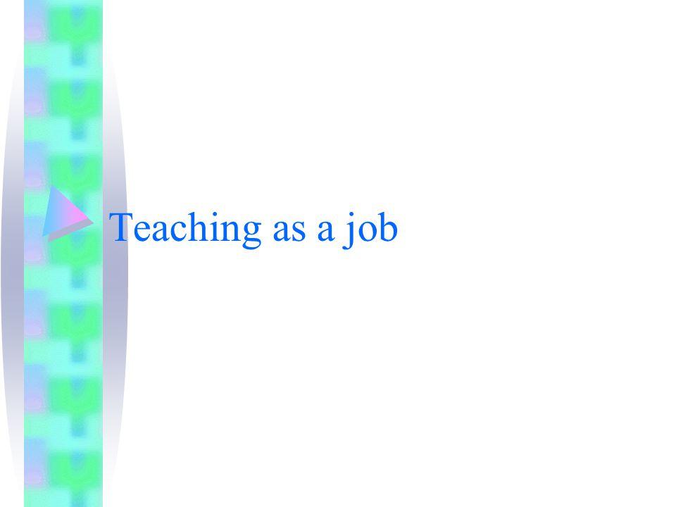 Teaching as a job