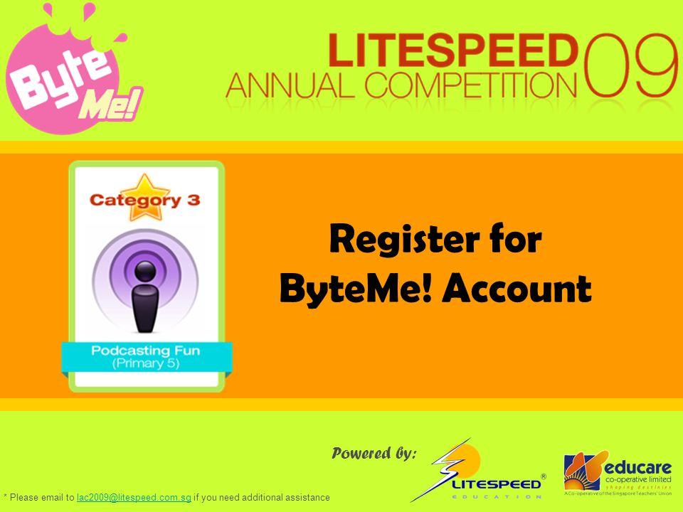 Register for ByteMe.