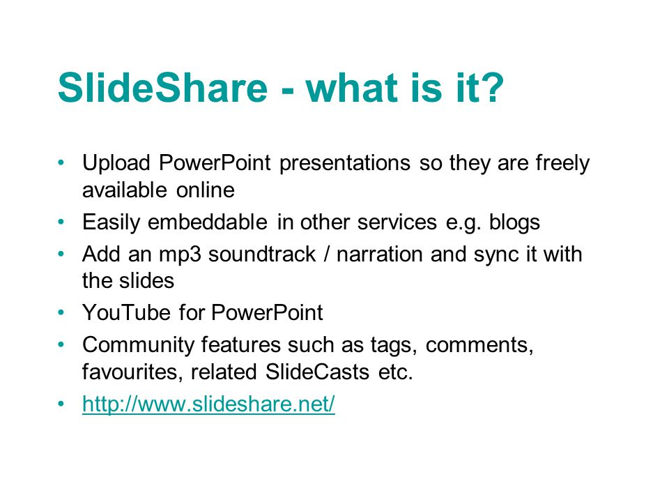 SlideShare - what is it.