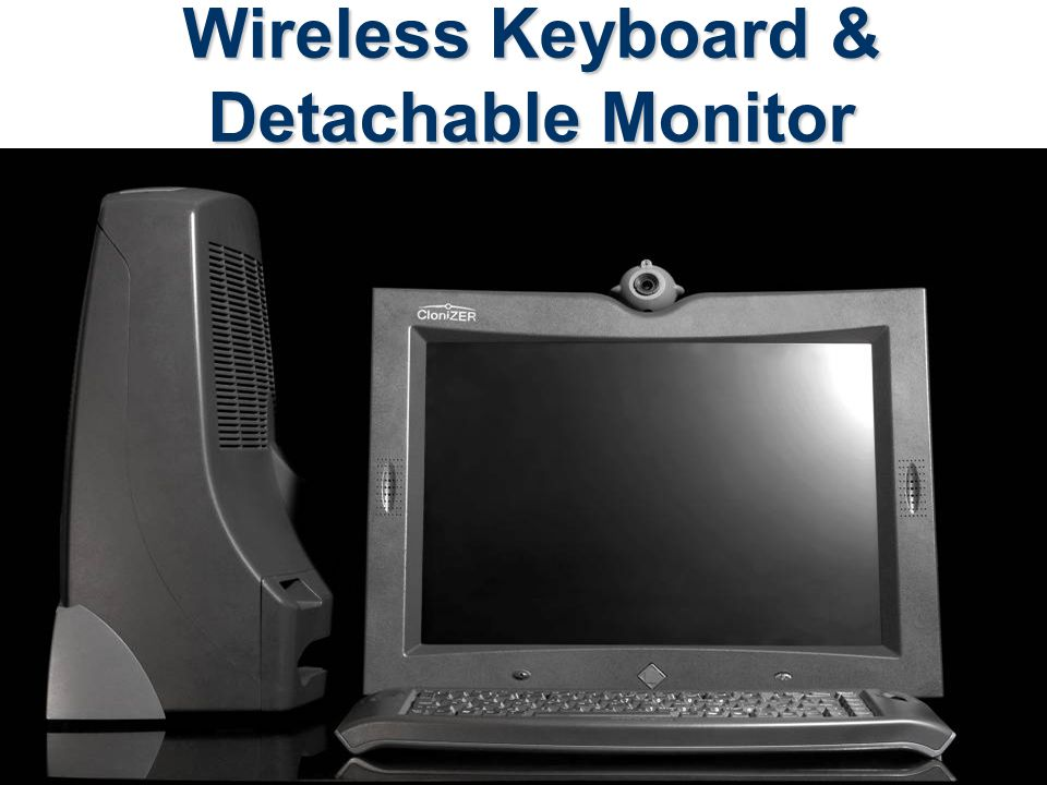 Wireless Keyboard & Detachable Monitor