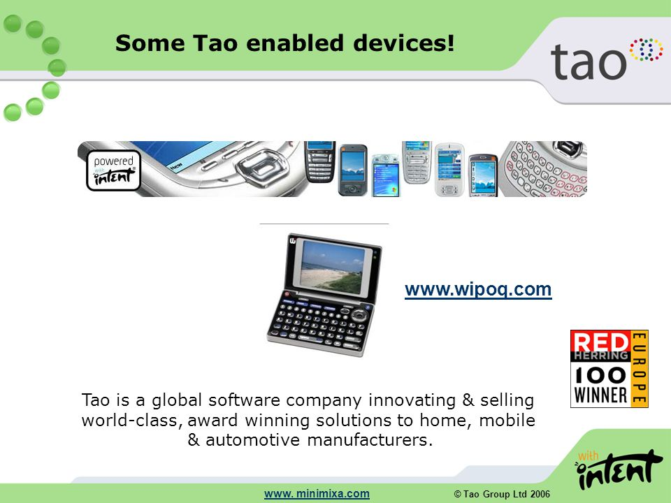 © Tao Group Ltd 2006 www.